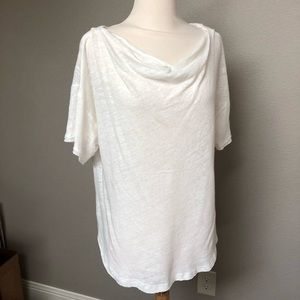 Free People linen cotton blend loose top tee large